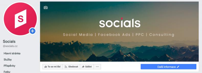 firemní stránka na facebooku úvodní fotka