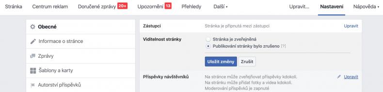 firemní stránka na facebooku