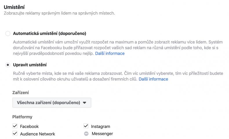 cena reklamy na facebooku a instagramu 4