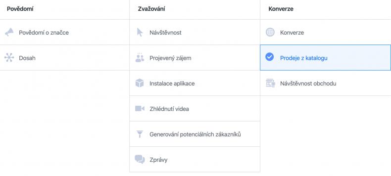 facebook nastavení kampaně