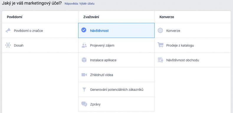 nastavení správce reklam na facebooku 7