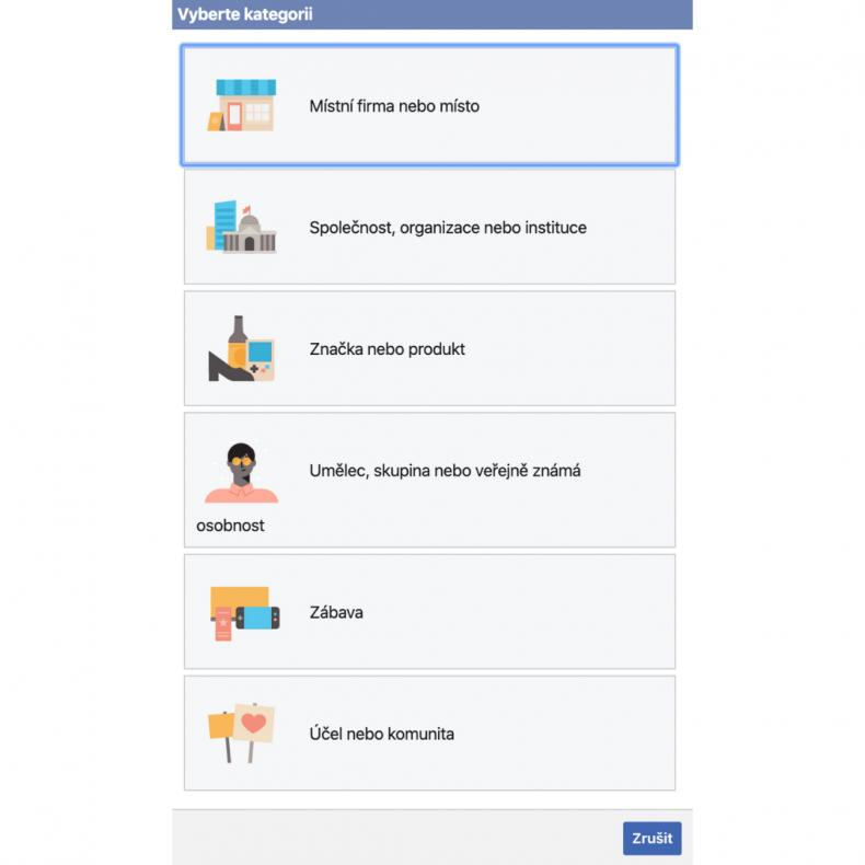 firemní stránka na facebooku 2