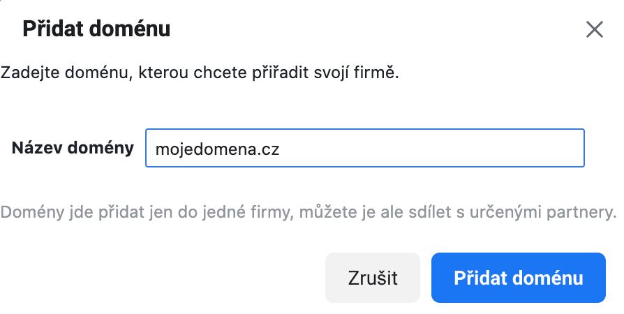 verifikace domeny na facebooku š